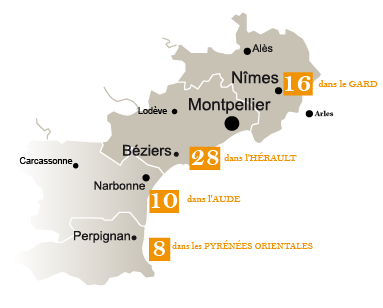 carte des boulangeries